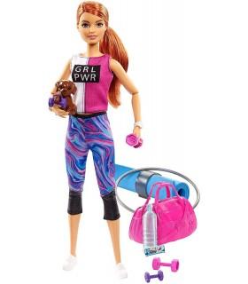 Barbie Cu Accesorii Wellness La Sala De Sport