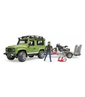 Masina De Teren Land Rover Defender Cu Remorca Si Motocicleta Ducati