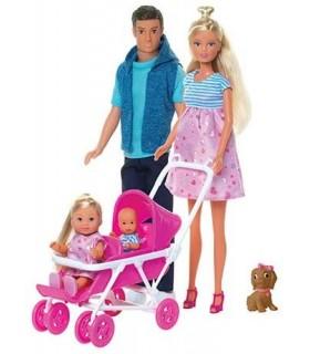 Set Steffi Love Familie Cu Copilas Nou-Nascut Surpriza