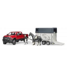 Dodge Ram 2500 Power Wagon Cu Remorca Transport Cai Si Cal