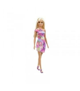 Barbie Cu Parul Blond Cu Rochita Inflorata