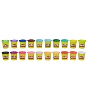 Set 40 De Borcanase Cu Pasta De Modelat Colorata