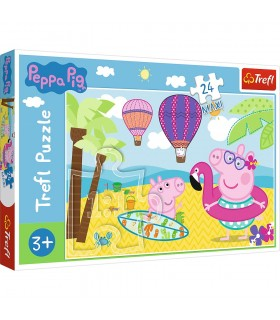 Peppa Pig In Vacanta, 24 Piese Maxi