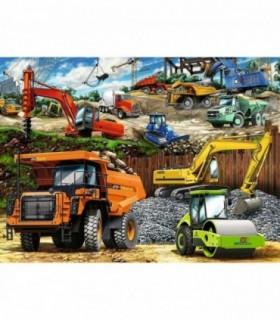 Vehicule De Constructii, 100 Piese XXL