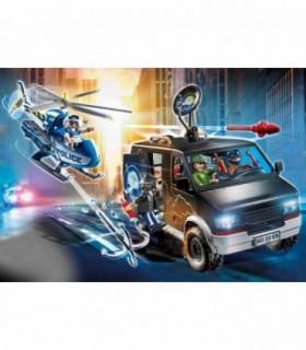Elicopter De Politie In Urmarirea Dubei