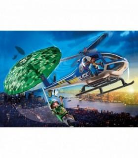 Elicopter De Politie Si Parasutist