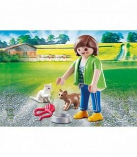 Figurina Fetita Cu Pisicute