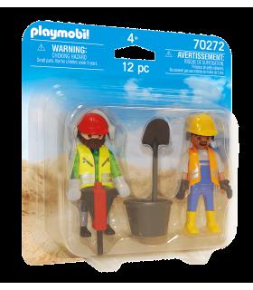 Set 2 Figurine Muncitori In Constructii