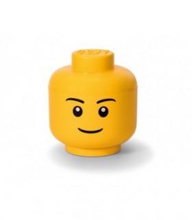 Cutie Depozitare L Cap Minifigurina LEGO Baiat