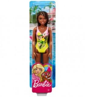 Papusa Barbie Creola Cu Costum De Baie Inflorat