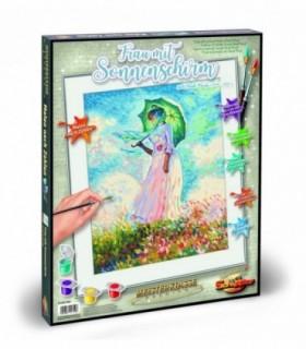 Kit Pictura Pe Numere Schipper Femeie Cu Umbrela De Soare De Claude Monet