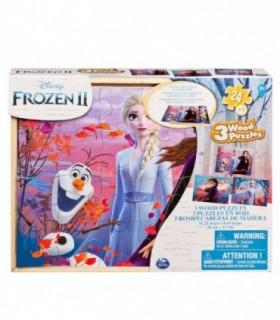 Frozen 2, 3 x 24 Piese Lemn