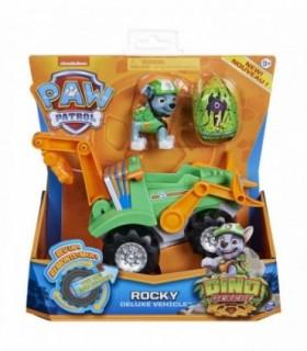 Vehicul Cu Catelus Rocky Si Figurina Dino Surpriza