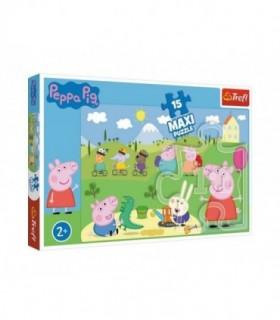 Puzzle Trefl 15 Maxi Peppa Pig O Zi Fericita