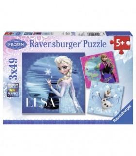 Frozen Elsa, Anna Si Olaf, 3x49 Piese