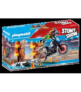 Motocicleta Cu Perete De Foc