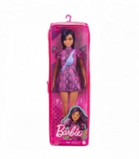 Barbie Fashionista Bruneta Cu Rochita Mov