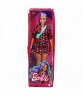 Barbie Fashionista Cu Parul Mov Si Rochita Cu Stelute