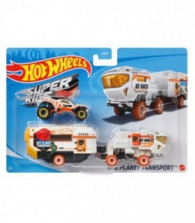 Set Camion Si Masina Sport Red Planet Transport