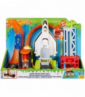 Hot Wheels Toxic City Deluxe Super Rocket Lansarea