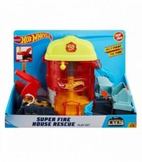 Hot Wheels City Deluxe Statia De Pompieri Super Fire House