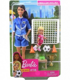 Barbie Antrenor De Fotbal (Bruneta)