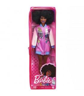 Barbie Cu Parul Afro Si Jacheta Lila