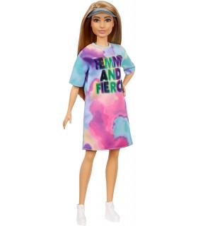 Barbie Cu Parul Blond Si Rochita Sport