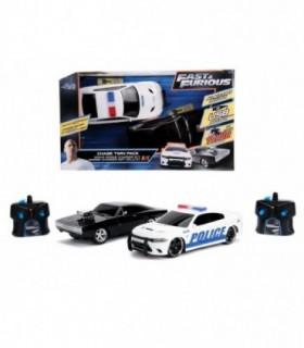 Set Masinute Fast & Furious Toyota Supra&Dodge Charger Srt Scara 1:16