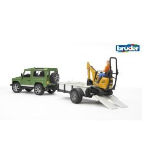Land Rover Defender Cu Microexcavator JCB Si Muncitor