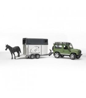 Land Rover Defender cu Remorca pentru Cai, Inclusiv 1 Cal