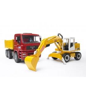 Camion MAN TGA cu Excavator Liebherr