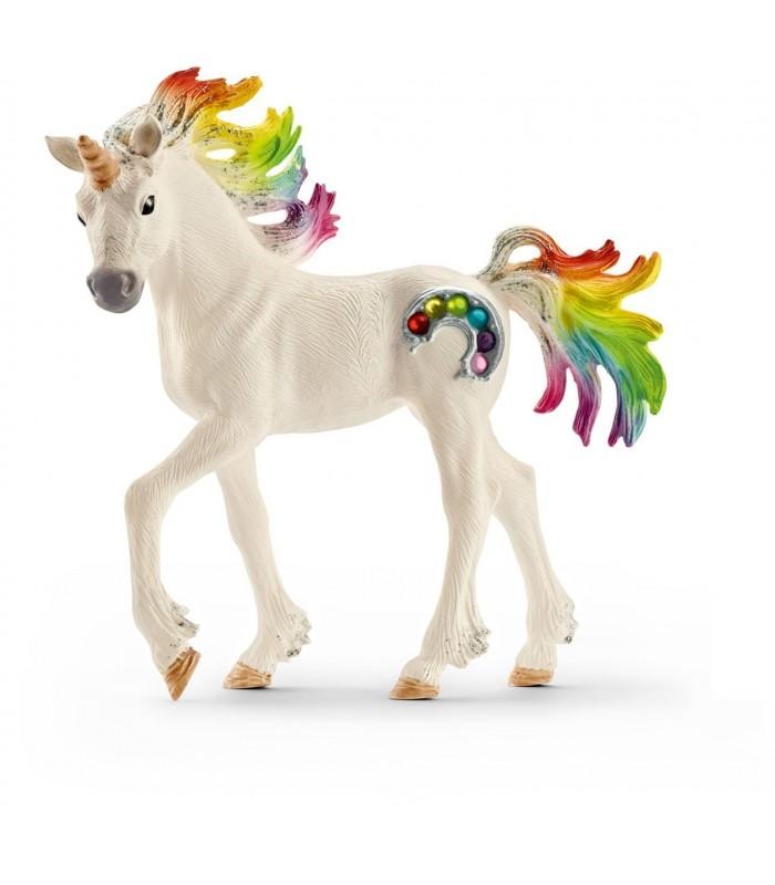 Manz Unicorn Curcubeu cu Strasuri