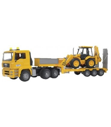 Camion MAN TGA cu BuldoExcavator JCB 4 CX
