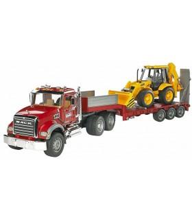 Camion MACK Granit Cu Incarcator Si Buldoexcavator JCB 4CX