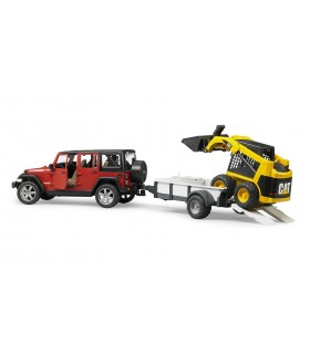 Jeep Wrangler Unlimited Rubicon cu Remorca & Mini-Incarcator CAT