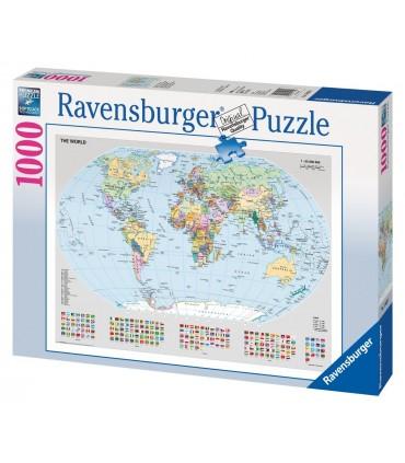 Puzzle Harta Politica A Lumii, 1000 Piese