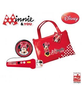 Geanta cu Microfon & Amplificator Minnie Mouse
