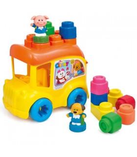 Autobuz Scolar & 12 Cuburi