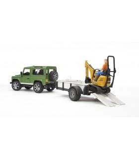Land Rover Defender & Microexcavator JCB