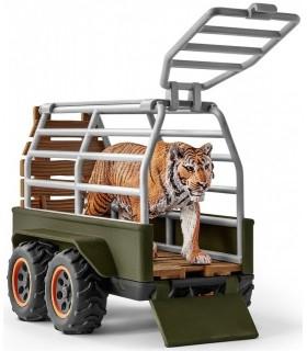 Padurar cu ATV si Tigru