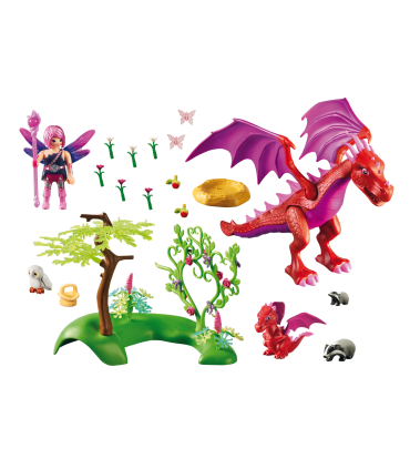Dragonul Prietenos Cu Puiul Sau