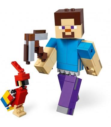 Steve Minecraft Bigfig Cu Papagal