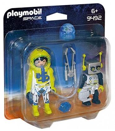 Set 2 Figurine - Astronaut Si Robot