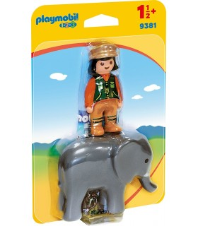 Ingrijitor Zoo Cu Elefant