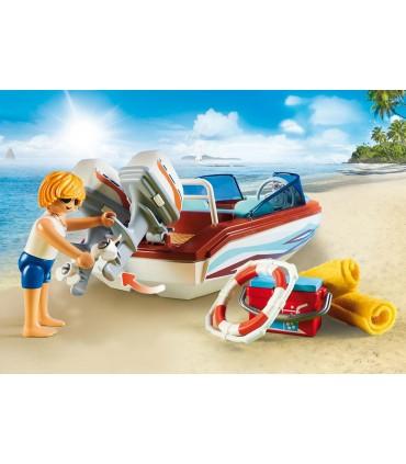 Barca De Viteza Cu Motor